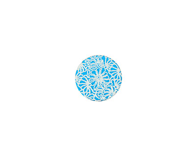 Lillypilly Turquoise Weathered Daisy Anodized Aluminum Disc 11mm, 24 gauge