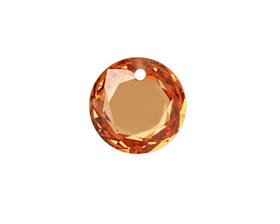 Champagne (dark) Faceted Coin 16mm