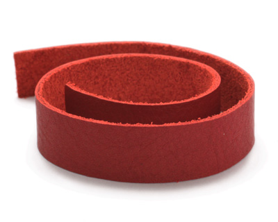 TierraCast Red Leather Strap 10