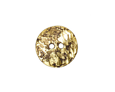 Greek Antique Gold (plated) Etched Button 17mm