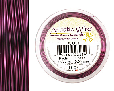 Artistic Wire Purple 22 gauge, 15 yards