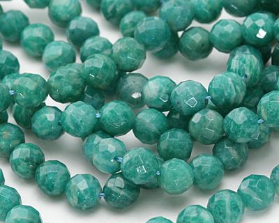 Russian Amazonite Faceted Round 7-8mm