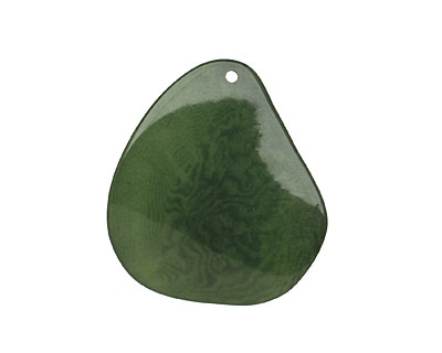 Tagua Nut Forest Green Potato Chip 30-37x37-47mm