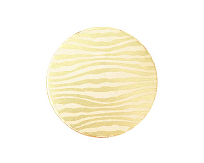 Lillypilly Gold Zebra Anodized Aluminum Disc 25mm, 22 gauge
