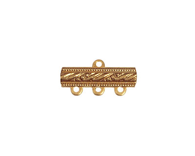 Brass Dotted Bar 1-3 Link 18x9mm