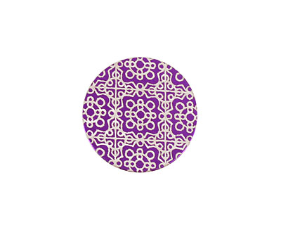 Lillypilly Purple Baroque Anodized Aluminum Disc 19mm, 24 gauge