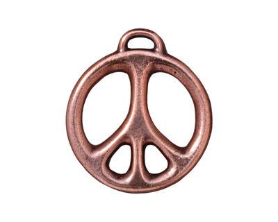 TierraCast Antique Copper (plated) Peace Pendant 24x27mm