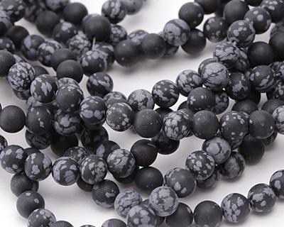 Snowflake Obsidian (matte) Round 8mm
