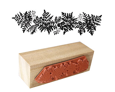 Fern Border Rubber Stamp 65x20mm