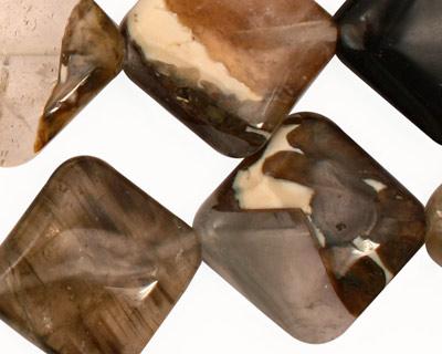 Black Rustic Quartz Diamond 24mm