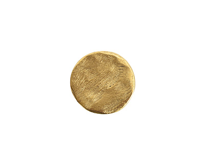 Nunn Design Antique Gold (plated) Small Organic Flat Circle 14.5mm