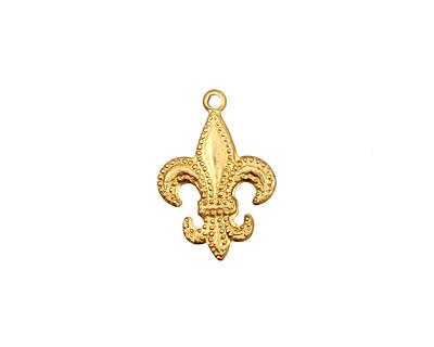 Brass Fleur De Lis Charm 13x18mm