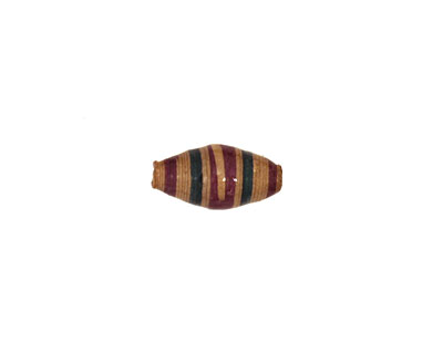 African Paper (violet, beige, forest stripe) Rice 14-15x7mm