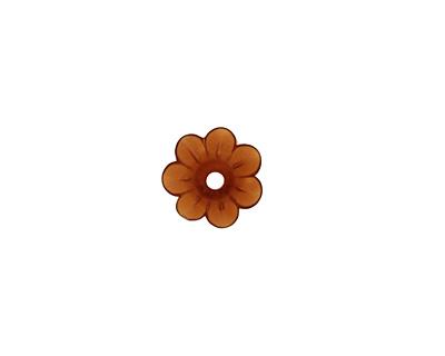 Matte Smoky Topaz Lucite Daisy 3x10mm