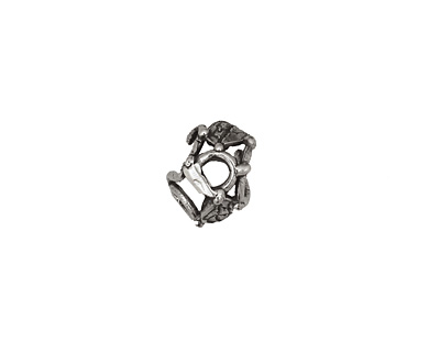 Rustic Charms Sterling Silver Curly Vine Bead Cap 7x11mm