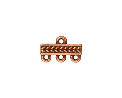 TierraCast Antique Copper (plated) Braided 3-1 Link 10x15mm