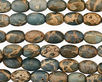 Blue Impression Jasper Rice 8-9x6mm