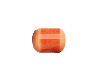 Tagua Nut Orange Bicolor Barrel 23-24x16-17mm