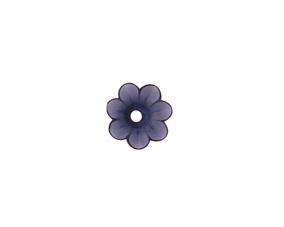Matte Montana Blue Lucite Daisy 3x10mm