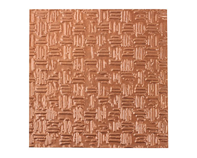 Lillypilly Antique Thatch Embossed Patina Copper Sheet 3
