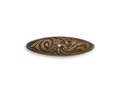Vintaj Natural Brass Nouveau Swirls Toggle Bar 26x7mm