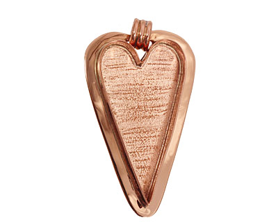 Copper Lipped Heart Bezel 29x53mm