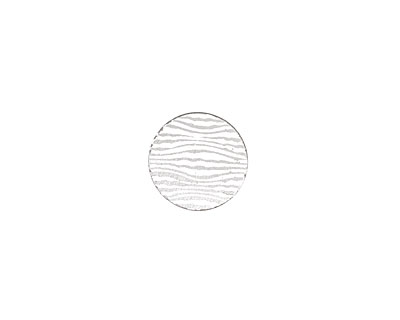 Lillypilly Silver Zebra Anodized Aluminum Disc 11mm, 22 gauge