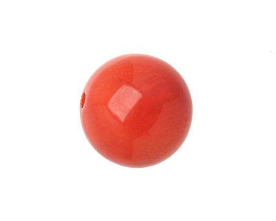 Tagua Nut Orange Round 20mm