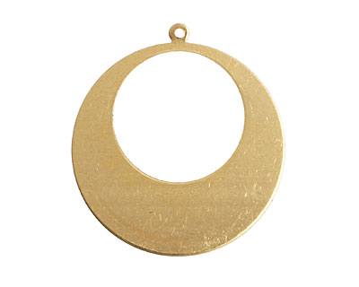 Brass Gypsy Hoop Blank 32x34mm