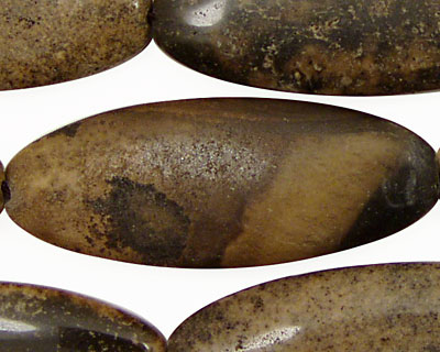 Mexican Painting Stone Flat Oval 47x19mm
