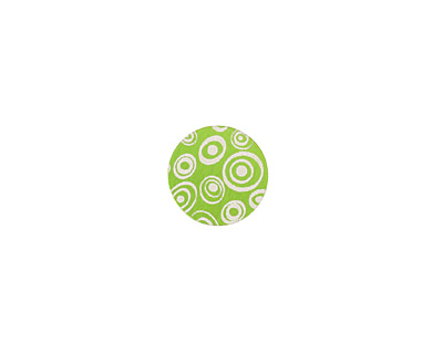 Lillypilly Lime Green Groovy Circles Anodized Aluminum Disc 11mm, 24 gauge