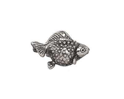 Green Girl Pewter Pearlscale Goldfish Charm 21x13mm