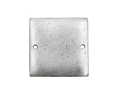 Nunn Design Antique Silver (plated) Flat Small Square Tag Link 23mm