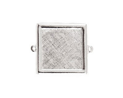 Nunn Design Sterling Silver (plated) Framed Small Square Pendant Link 37x30mm