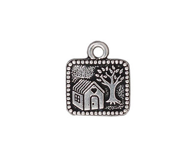 TierraCast Antique Silver (plated) Mi Casa Milagro 16x18mm
