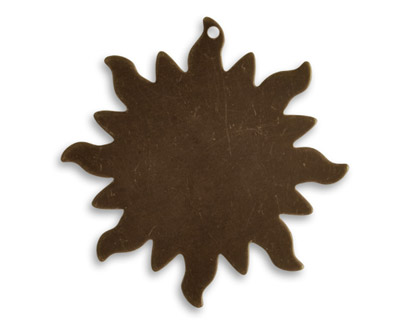 Vintaj Natural Brass Dancing Sun Altered Blank 30mm