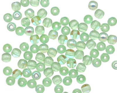 Czech Glass Peridot AB Round 4mm