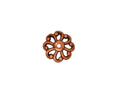TierraCast Antique Copper (plated) Open Scalloped Bead Cap 12mm