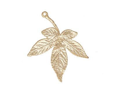 Ezel Findings Gold (plated) Japanese Maple Leaf Link 35x30mm