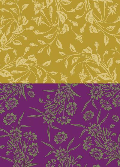 Nunn Design Wheat & Violet Small Collage Sheet