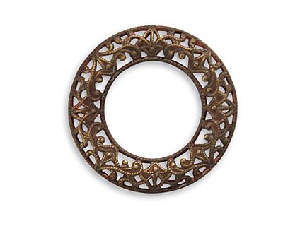 Vintaj Natural Brass Scrolled Filigree Ring 27mm
