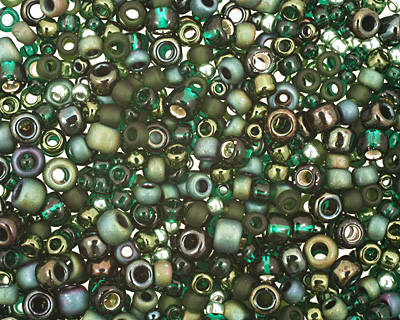 TOHO Bonsai Green/Black Seed Bead Mix