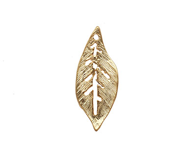 Ezel Findings Gold (plated) Palm Leaf 10x24mm
