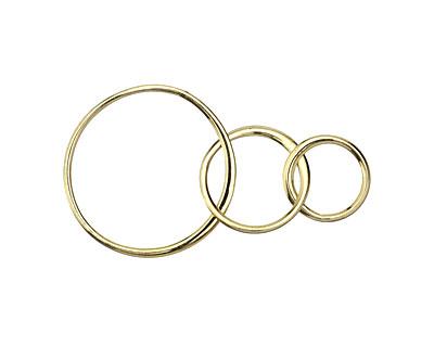 Nina Designs Natural Bronze 3 Circles Link 37x18mm