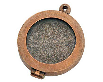 Nunn Design Antique Copper (plated) Small Plain Locket 30mm