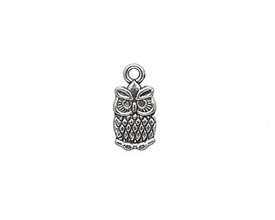 Pewter Owl Charm 8x15mm