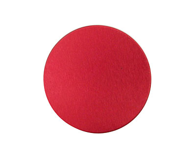 Lillypilly Red Anodized Aluminum Disc 25mm, 24 gauge