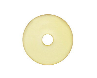 Lemon Recycled Glass Donut 25mm