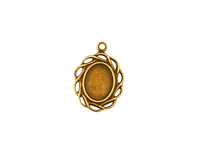 Stampt Antique Brass Open Weave Oval Setting 6x8mm