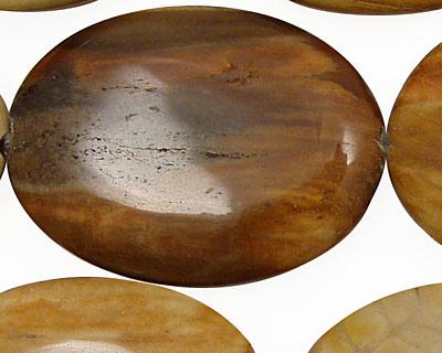 Madagascar Petrified Wood Flat Oval 40x30mm